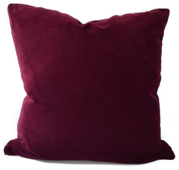 Burgundy Velvet modern-decorative-pillows