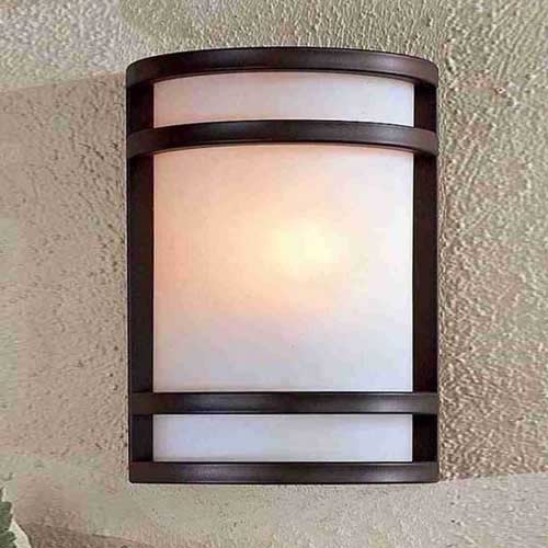 Bay View Fluorescent Outdoor Wall Light Contemporary Outdoor Wall Lights