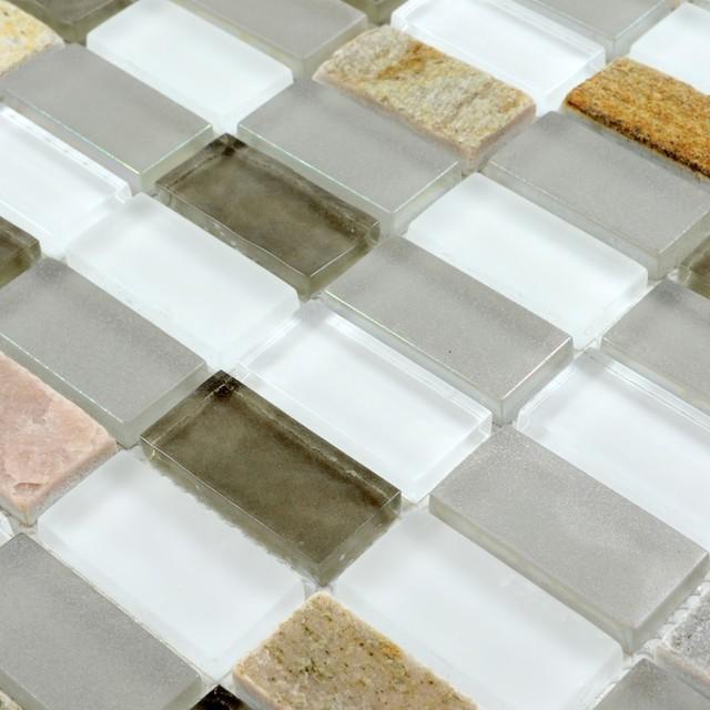 stone glass mosaic tile backsplash mosaic bathroom wall
