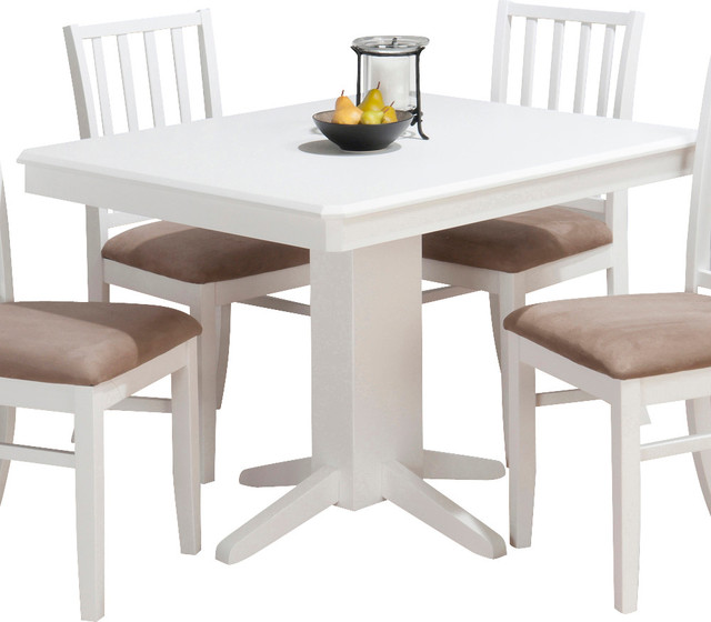 Rectangular Dining Table With Bench: Jofran Aspen Rectangle Pedestal Dining Table In White
