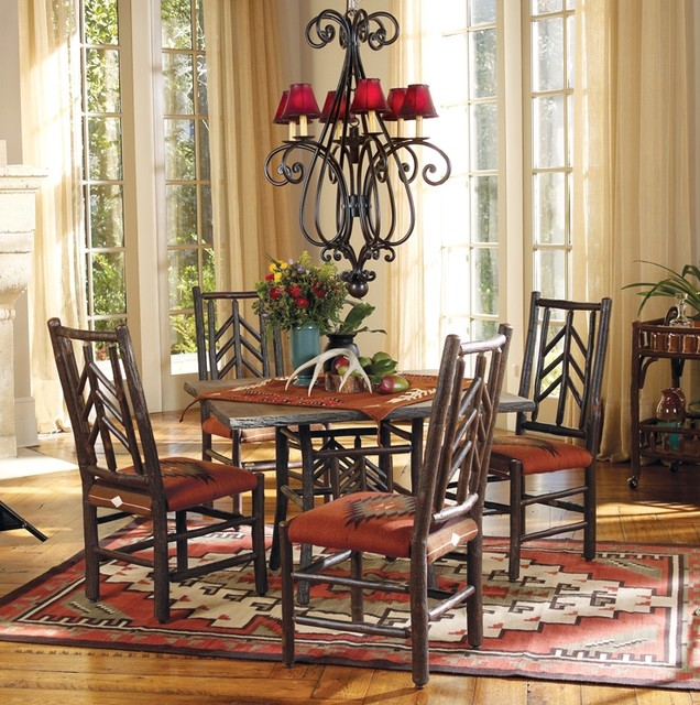 Smoky Mountain Dining Set Rustic Dining Sets Indianapolis By Old Hickory Furniture Company