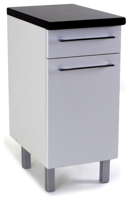Vita meuble de cuisine bas 1 porte 1 tiroir 40cm moderne for Placard bas cuisine