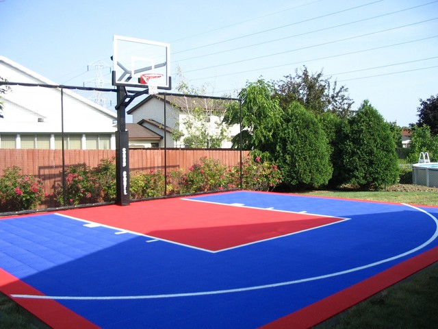 outdoor basketball courts other metro by snapsports of