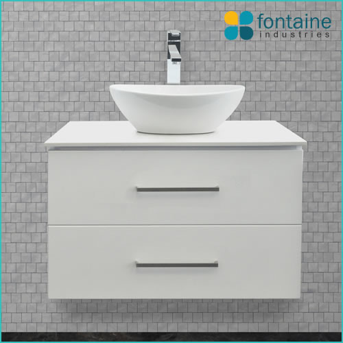 Omega 750 wall mounted vanity contemporary bathroom for Bathroom cabinet 750