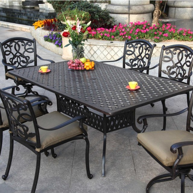 Darlee Santa Monica 6-Person Cast Aluminum Patio Dining