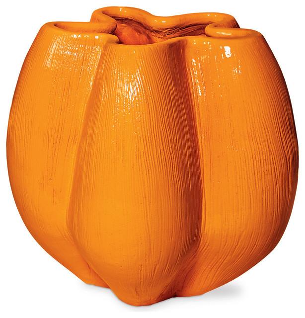 Anemone Vase, Orange - Contemporary - Vases - by Seasonal Living Trading LTD