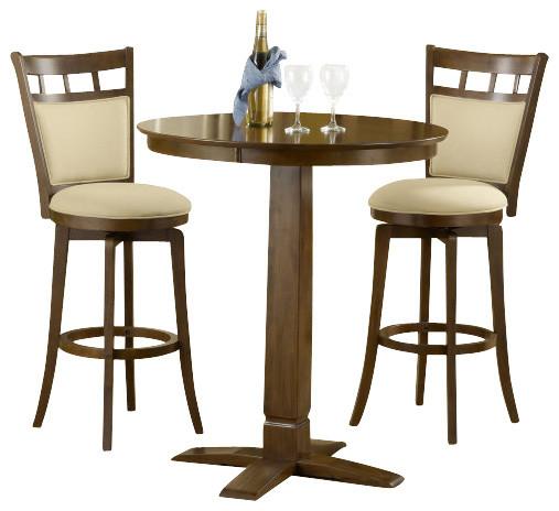 Hillsdale dynamic designs 3 piece pub table set with for 10 piece kitchen table set