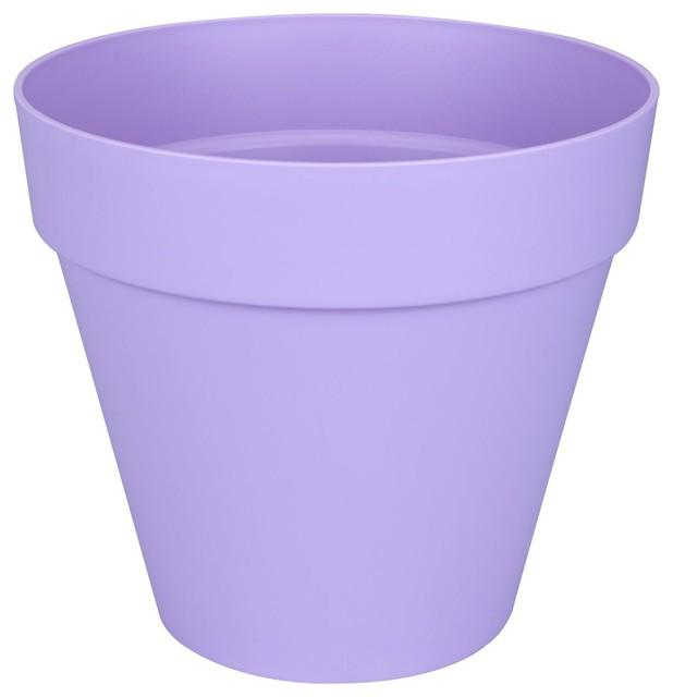 Poft cache pot d30cm lavande en plastique elho for Cache pots exterieur
