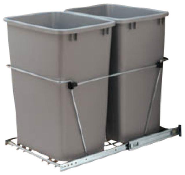 rev a shelf rv 18kd 17c s double 35 qt pullout waste. Black Bedroom Furniture Sets. Home Design Ideas