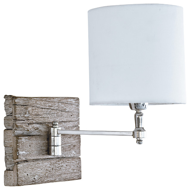 rustic swing arm wall lamp 1