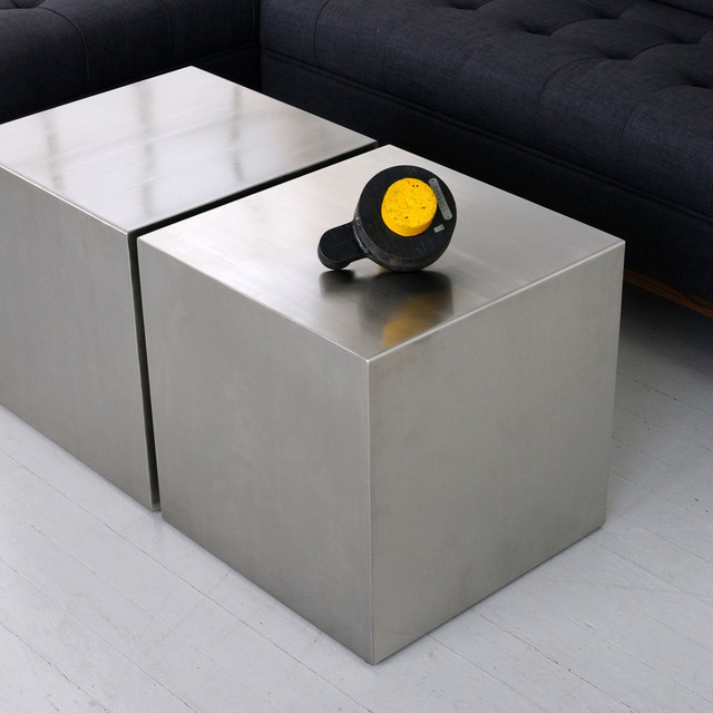 Stainless Steel Cube - Contemporary - Coffee Tables - vancouver - by The Modern Source Inc.