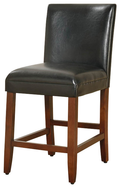 24 luxury black faux leather barstool 23 5 x19 x39 5 for Luxury leather bar stools