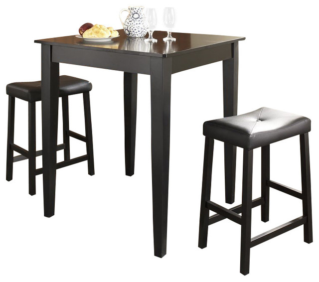 leg and upholstered saddle transitional indoor pub and bistro sets