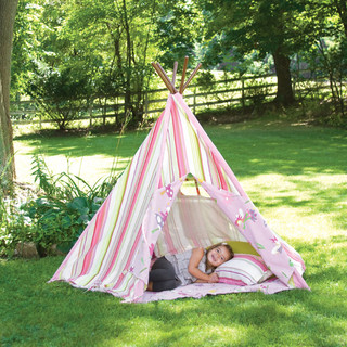 Pink Stripes Teepee Tents Amp Teepees Modern Outdoor