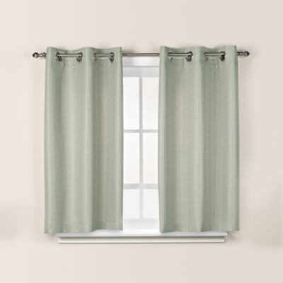 Hookless Waffle 38 Inch X 45 Inch Window Curtain In Sage