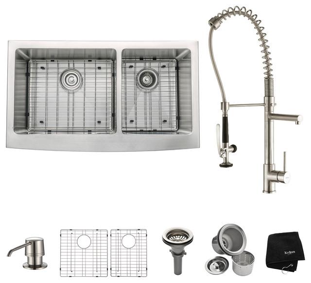 36 Farmhouse Double Bowl Stainless Steel Kitchen Sink