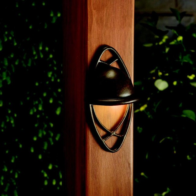 Wall Mounted Deck Lights : Kichler Lighting - 15469TZT - Cathedral - One Light Deck Pocket Wall Mount - Outdoor Lighting ...
