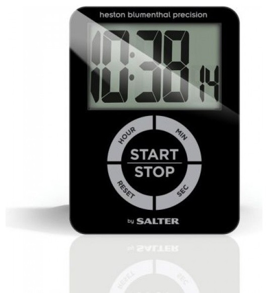 Salter Heston Blumenthal Precision Glass Electronic Timer Contemporary Kitchen Timers By