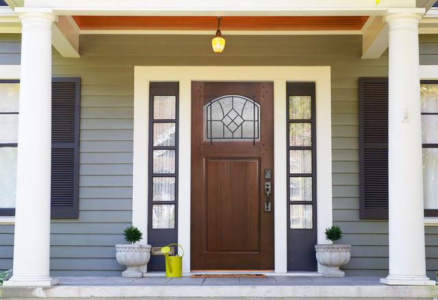 bungalow door in mahogany wood with winslow grille On bungalow main door design