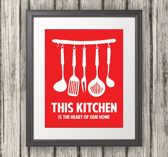 Image gallery kitchen framed art print for Kitchen wall prints