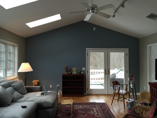 Advice Hanging Pictures On Wall With Cathedral Ceiling
