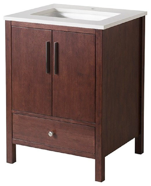 Stufurhome Rockford 25 Inch Single Sink Bathroom Vanity ...