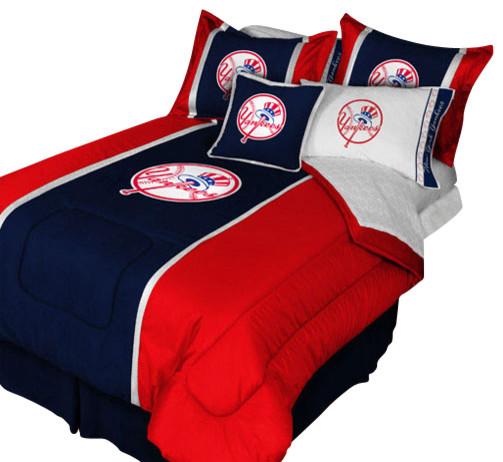 New York Yankees Queen Comforter Pillow Shams MVP Bed Set Contemporary Ki