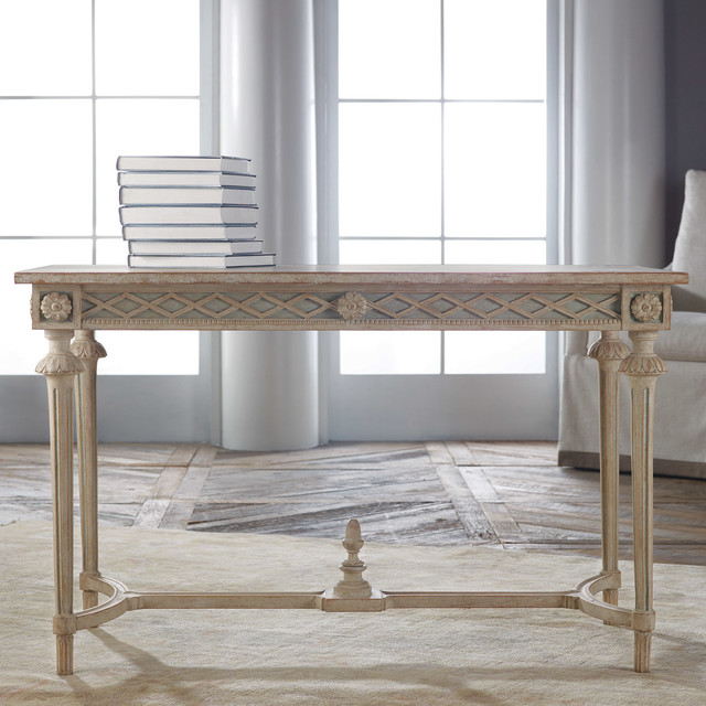 Modern History Home Regency Carved Console Table Modern Dining Tables By Layla Grayce