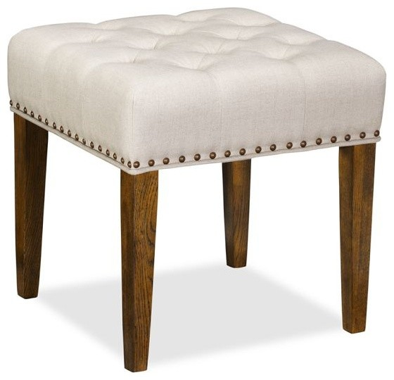 Lorraine Tufted Upholstered Desk Stool with Nailheads  : traditional footstools and ottomans from www.houzz.com size 560 x 540 jpeg 42kB