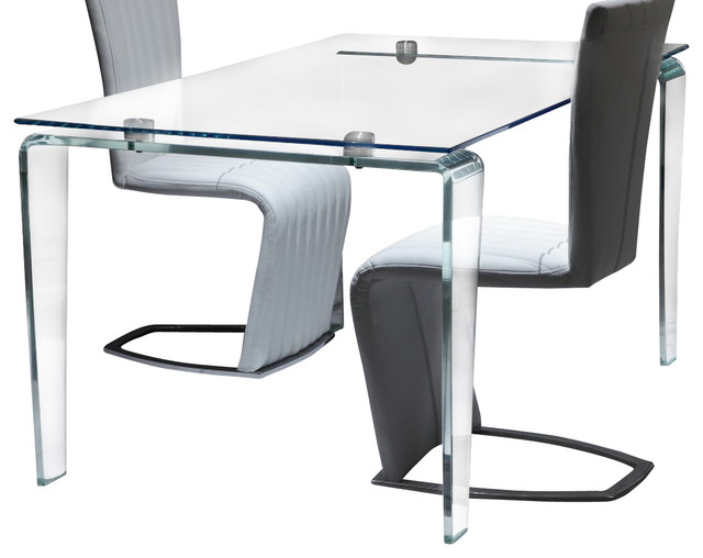 Crystal Tempered And Bent Glass Dining Table Modern