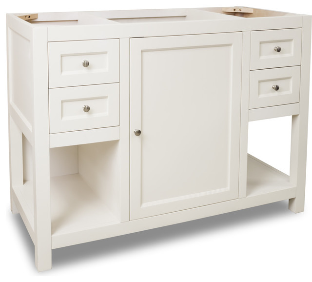 Van091 48 Jeffrey Alexander Vanity In Cream White Transitional Bathroom Vanities And Sink
