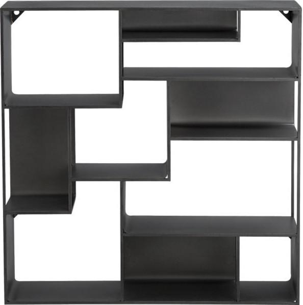 Industrial Metal Wall Mounted Bookcase Modern Display