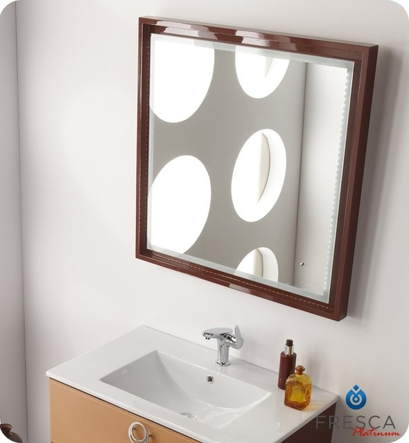 Fresca Platinum Napoli 32 Bathroom Mirror Fpmr7544cl Modern Bathroom