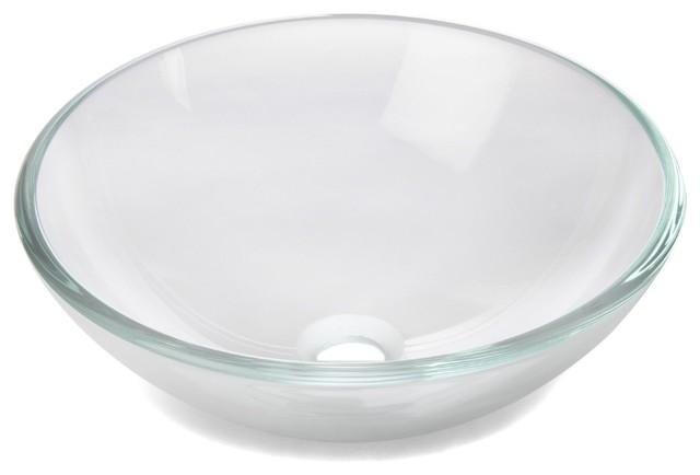 clear bain vasque de salle de bains ronde en verre contemporain lavabos par alin a. Black Bedroom Furniture Sets. Home Design Ideas