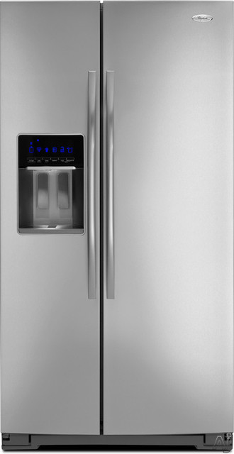 Whirlpool Gold GSS30C6EY Side-by-Side Refrigerator - Contemporary - Refrigerators - by AJ Madison