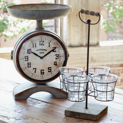 Double Sided Scale Clock Farmhouse Clocks Other