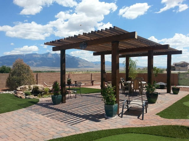 Oersted Lower Patio Rustic Albuquerque by Always Green NM