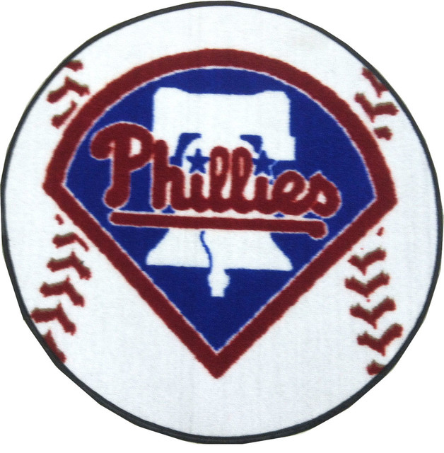 Baseball Bathroom Rug MLB Philadelphia Phillies Baseball Shaped Accent Rug .
