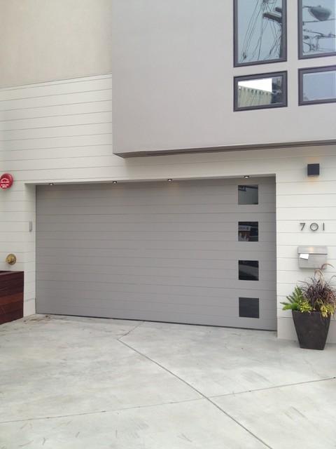 Carriage House Painted Garage Doors - Modern - Garage ...