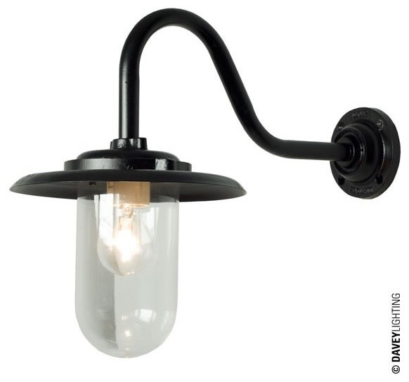 Davey 7677 Exterior Bracket Light 100W Black Industrial