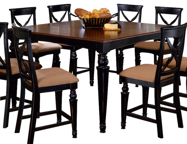 Height Dining Table In Black And Cherry Traditional Dining Tables