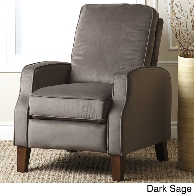 abbyson living camden velvet pushback recliner contemporary recliner