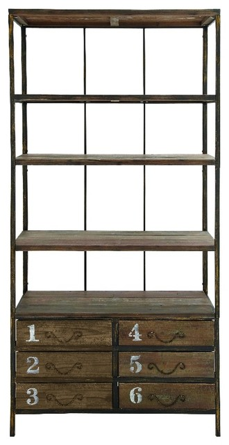 With Drawer In Light Brown Color Decor Rustic Display And Wall Shelves