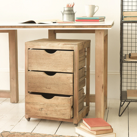 Solid Wood Drawer Unit | Rolly | Loaf - Rustic - Filing Cabinets - by Loaf