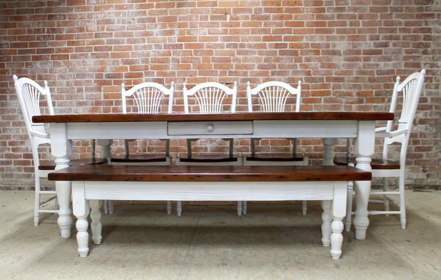 7ft Reclaimed Farm Table By Ecustomfinishes Farmhouse