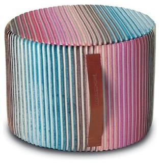 jacaranda indigo cylinder pouf modern floor pillows