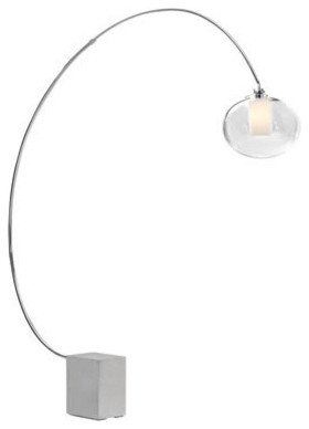 Zuo Modern Plasma Floor Lamp Chrome Contemporary Floor