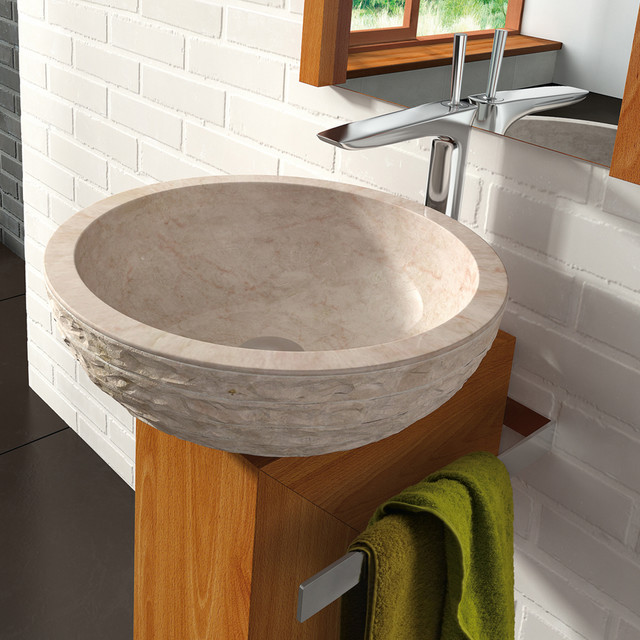 Natural Stone Sinks Bathroom : Natural Stone Vessel Sink By MaestroBath - Modern - Bathroom Sinks ...