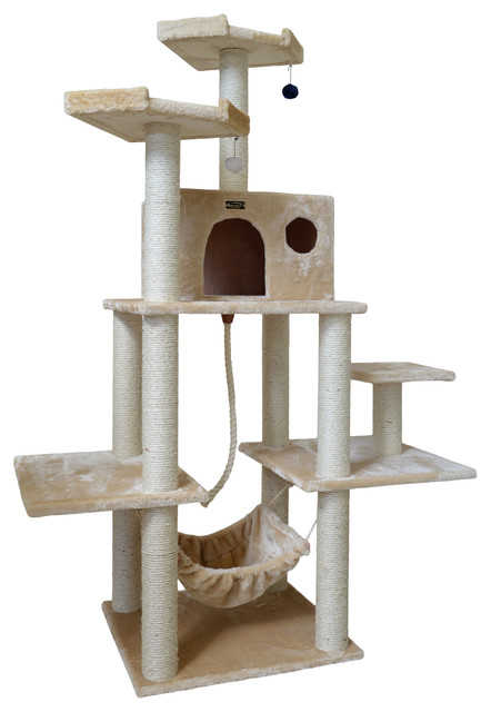 armarkat 72 classic cat tree beige contemporary cat