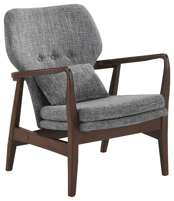 Rundell Retro Fabric Upholstered Leisure Accent Chair in
